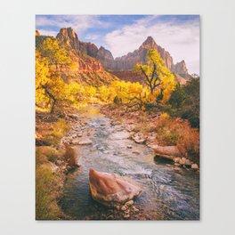 River Runs Through Zion Fine Art Print Canvas Print