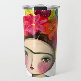 Frida And The Bird In Her Hair Travel Mug