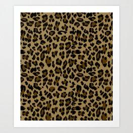 Leopard Print Pattern Art Print