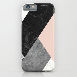Black and White Marbles and Pantone Pale Dogwood Color iPhone Case
