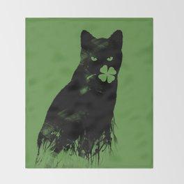 St Paddy's Cat Throw Blanket