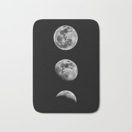Phases of the Moon print black-white monochrome new lunar eclipse poster home bedroom wall decor Bath Mat