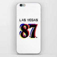 las vegas iPhone & iPod Skins featuring Las Vegas by Joe Alexander