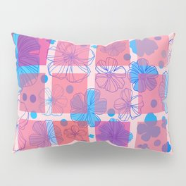 Drawing flowers in cubes Pillow Sham