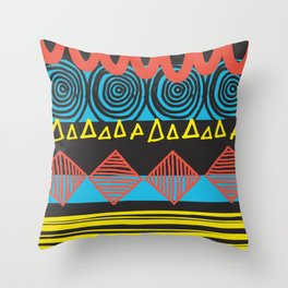Parallel Shapes Throw Pillow