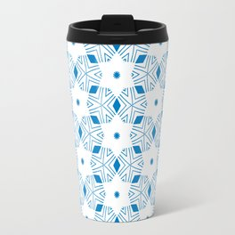 Shibori Stars (blue and white) Travel Mug
