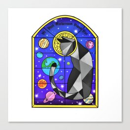 Stained Glass Cat Canvas Print