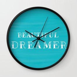 Beautiful Dreamer Wall Clock