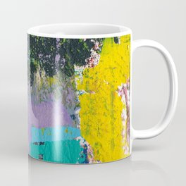 Whisper Yellow Abstract Coffee Mug