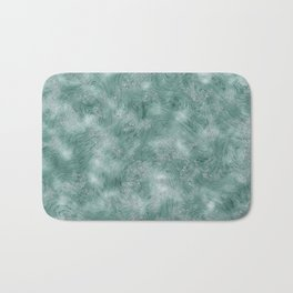 Teal Green Marble Texture Bath Mat