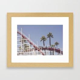 Santa Cruz Rollercoaster Framed Art Print