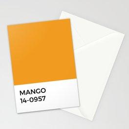 Mango Pantone Chip •Orange • Fruit • India • Kitchen • Foodie Print • Minimal • Modern Design • Art Stationery Cards