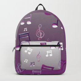 Purple Notes Backpack
