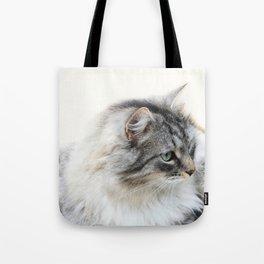 Silver Cat Tote Bag