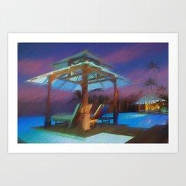 Tropical Nightscape Art Print