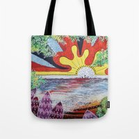 hawaii Tote Bags featuring Hawaii by Laura Hol Art