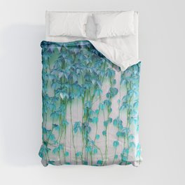 Average Absence, Botanical Minimal Nature Creepers Plants, Tropical Watercolor Bohemian Painting Comforters