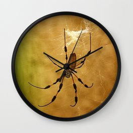 Banana Spider Wall Clock