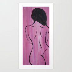 Cherry Wood Girl Art Print