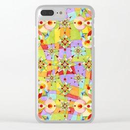 Rainbow Sparkles Clear iPhone Case