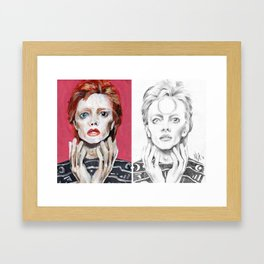 Two Bowies Framed Art Print