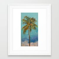 palm tree Framed Art Prints featuring Palm Tree by Michael Creese