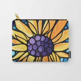 Standing Tall - Sunflower Art By Sharon Cummings Carry-All Pouch