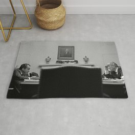 Johnson and Nixon at the White House Rug