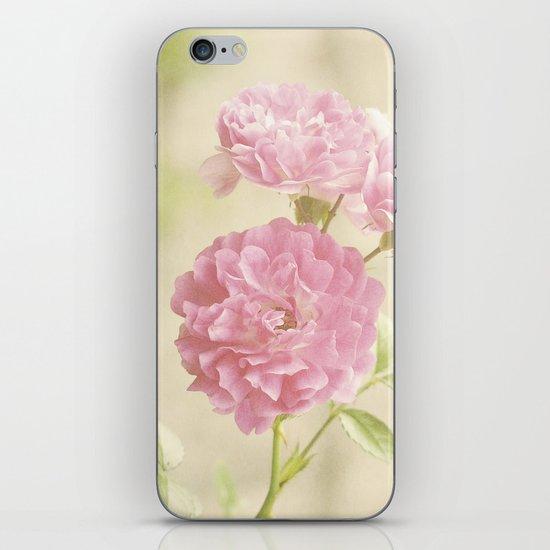 Vintage Pink Ruffled Roses II iPhone & iPod Skin