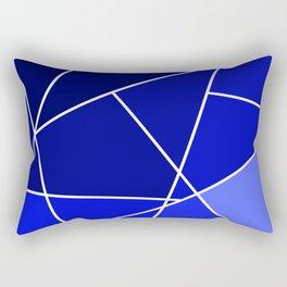 Blue Line Pattern Rectangular Pillow