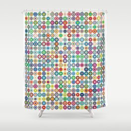 Crazy Dots Shower Curtain