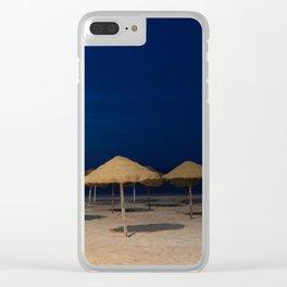 Night beach in Tunisia Clear iPhone Case