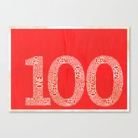the 100 Canvas Prints featuring 100 by axemangraphics