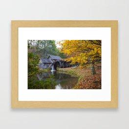 Rustic Mill in Autumn Framed Art Print