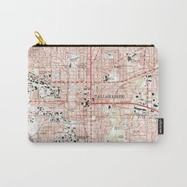 Tallahassee Florida Map (1999) Carry-All Pouch