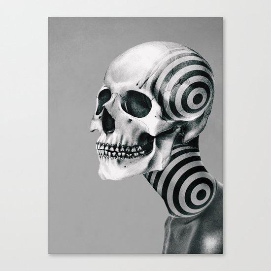 SKULL (Portrait) Canvas Print