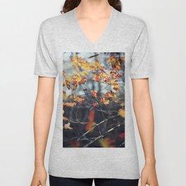 Fall leaves #07 Unisex V-Neck