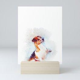 Watercolor Jack Russell Handshake Mini Art Print