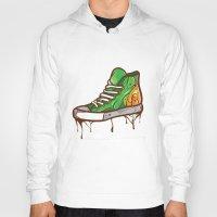 sneaker Hoodies featuring Green Sneaker by ArievSoeharto