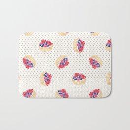 Vintage lavender pink ivory polka dots berries pie pattern Bath Mat