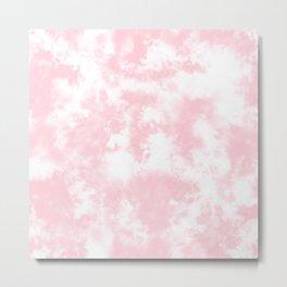 Pink Tie Dye & Batik Metal Print