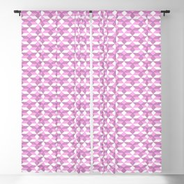 Geometrical pink lilac white abstract pattern Blackout Curtain