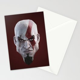 Triangles Video Games Heroes - Kratos Stationery Cards