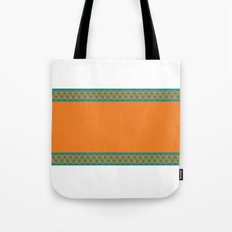 Aqua & Orange Tote Bag