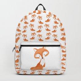 Cute fox kids illustration on white background Backpack