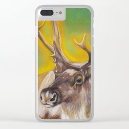 Glowing Caribou Clear iPhone Case
