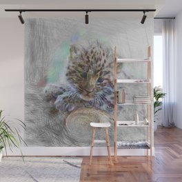 Artistic Animal - Baby Leopard Wall Mural