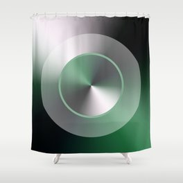 Serene Simple Hub Cap in Green Shower Curtain