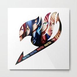 Group of Fairy Tail Anime Metal Print