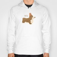 corgi Hoodies featuring Corgi by 52 Dogs